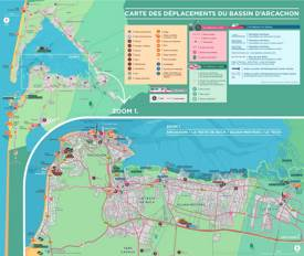 Tourist Map of Surroundings of Arcachon