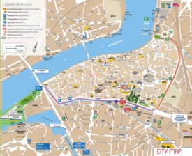Arles city center map