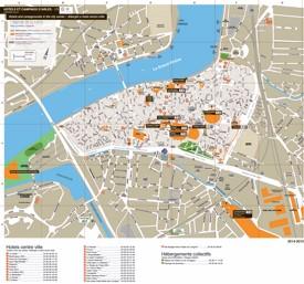 Arles hotel map