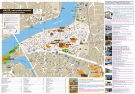 Arles sightseeing map