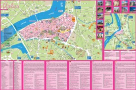 Arles tourist attractions map