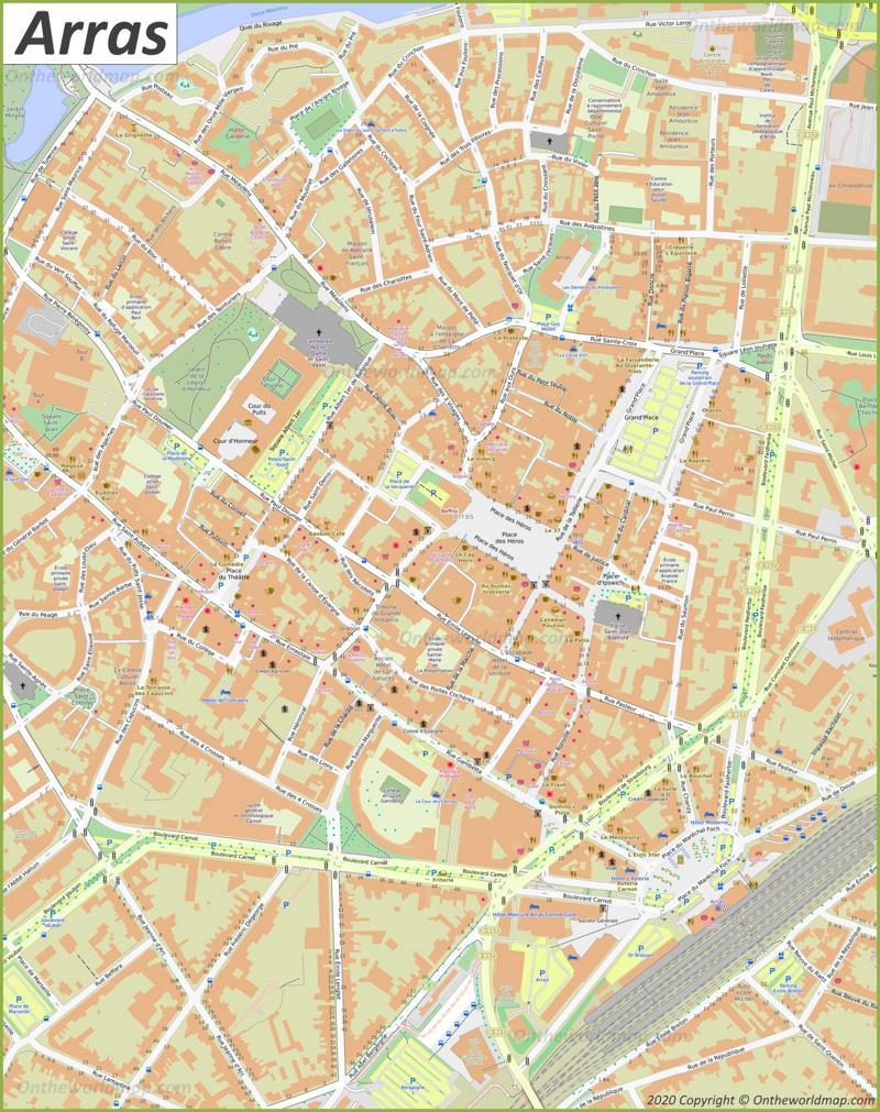 Arras City Center Map