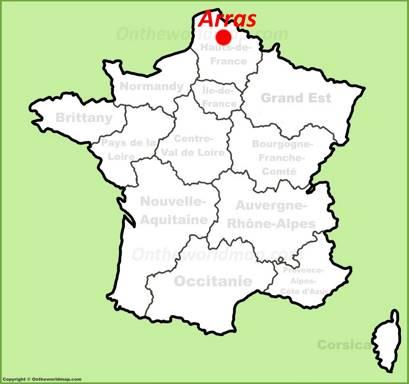 Arras Location Map