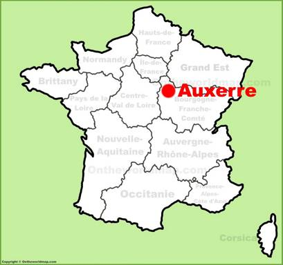 Auxerre Location Map