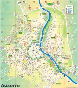 Auxerre Tourist Map