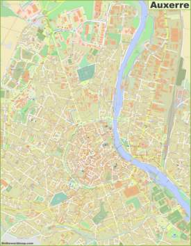 Detailed Map of Auxerre