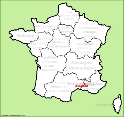 Avignon Location Map
