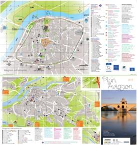 Avignon tourist map