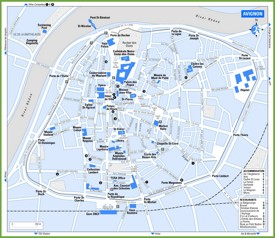 Avignon travel map
