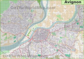 Large detailed map of Avignon