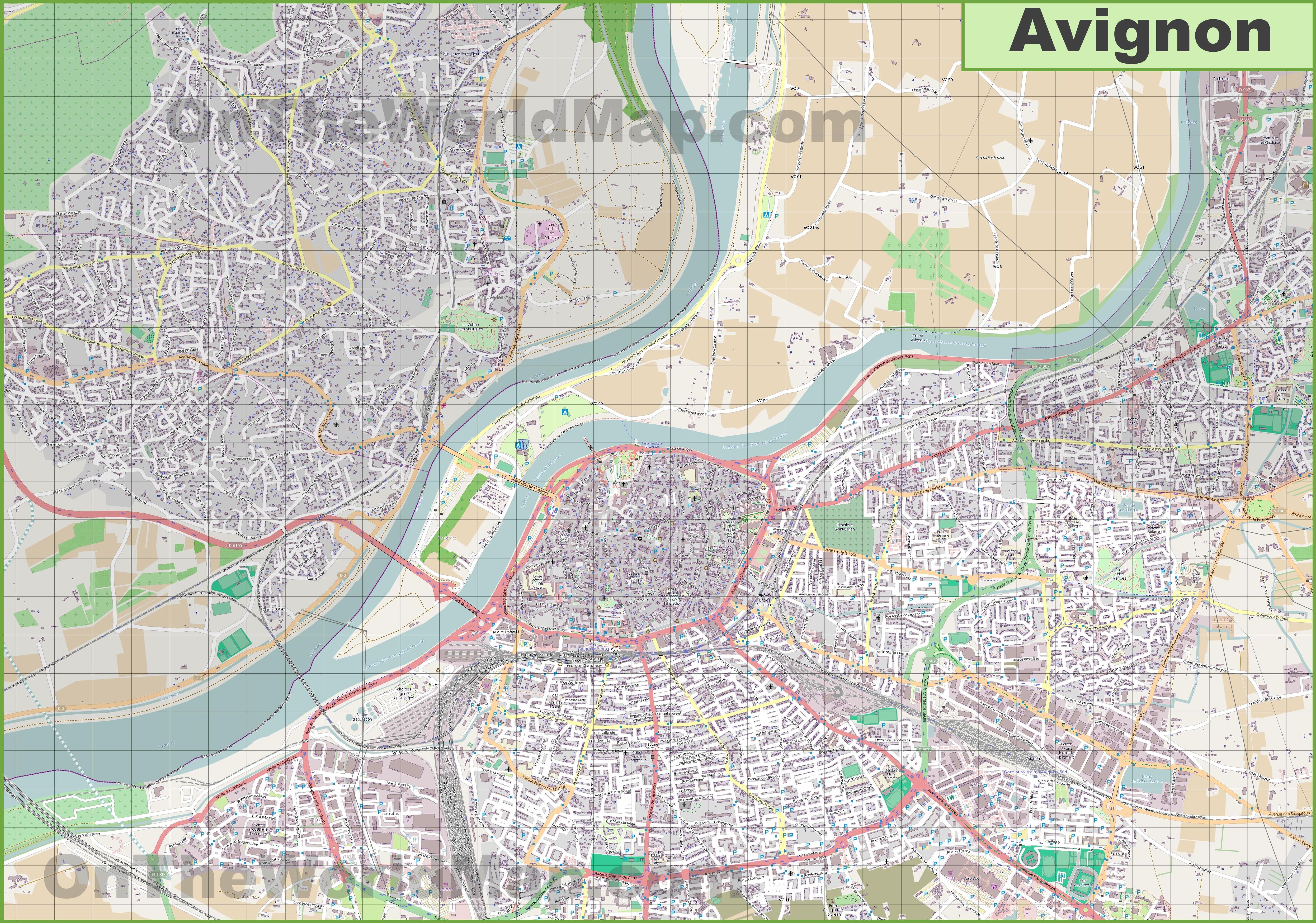 Avignon Map badlands national park map ghana map