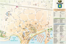 Bandol city center map