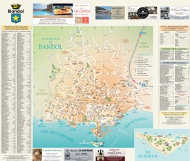 Bandol tourist map