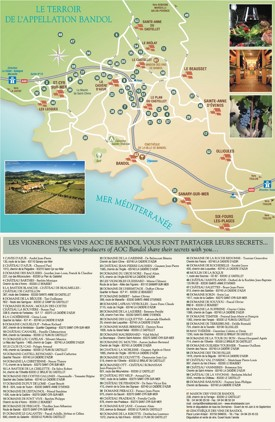 Bandol wine map