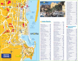 Bastia city center map