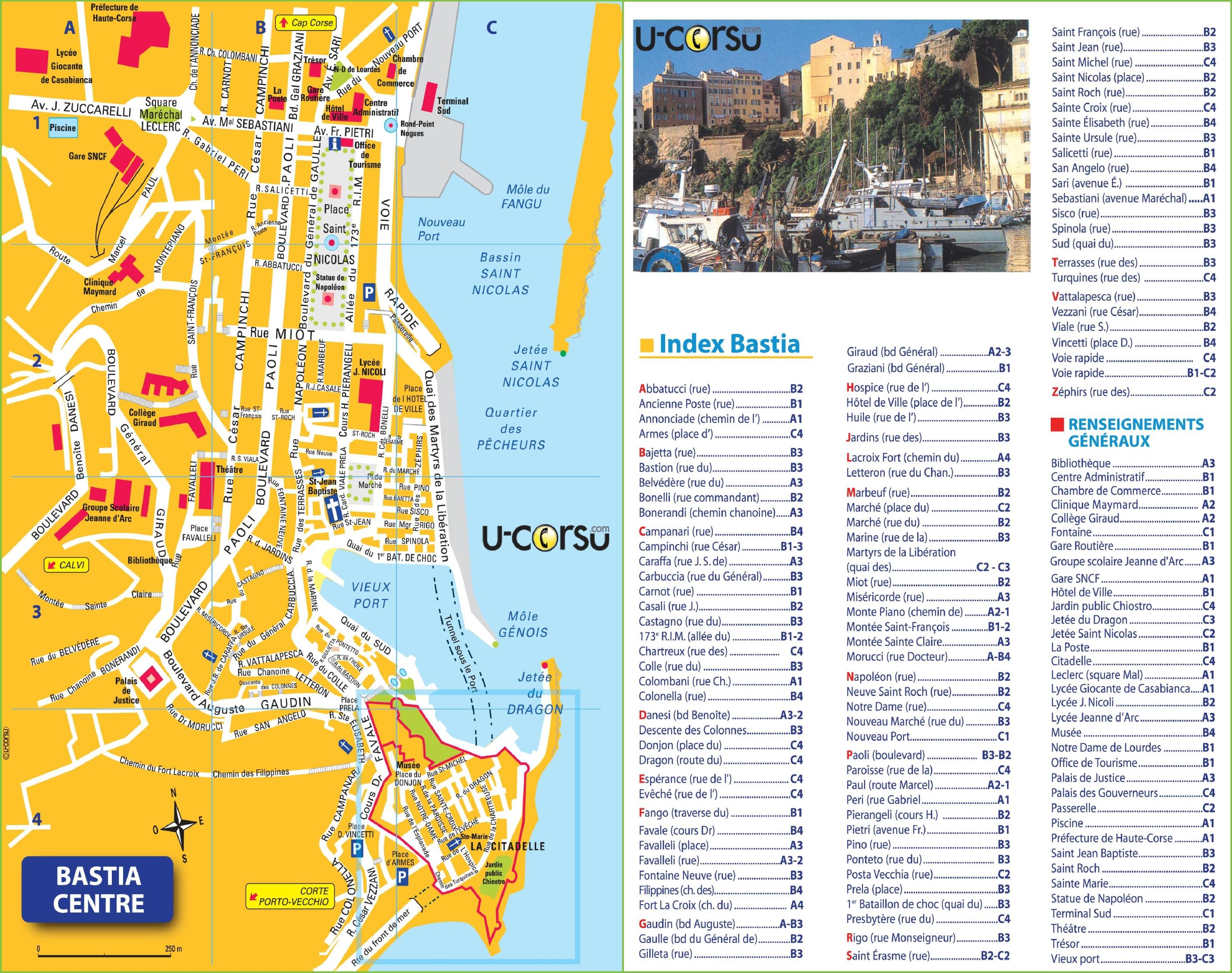 Bastia Maps | Corsica, France | Maps of Bastia