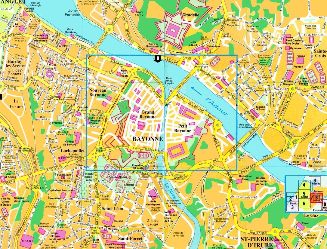 Allée De Niert Bayonne bayonne tourist map