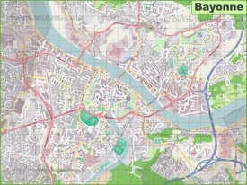 Large detailed map of Bayonne