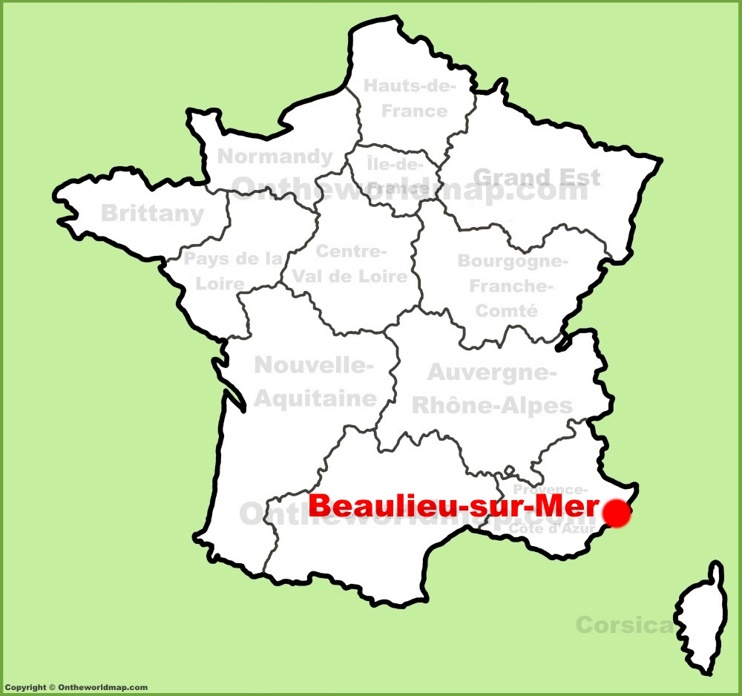 Beaulieu-sur-Mer location on the France map