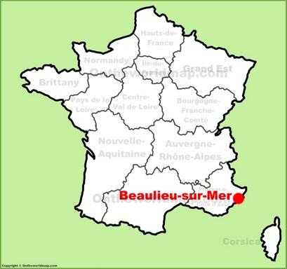 Beaulieu-sur-Mer Location Map