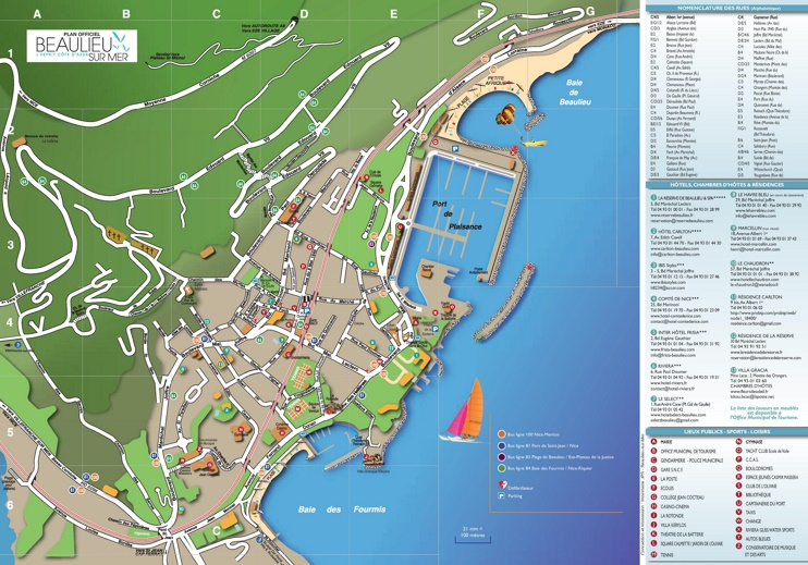 Beaulieu-sur-Mer tourist map