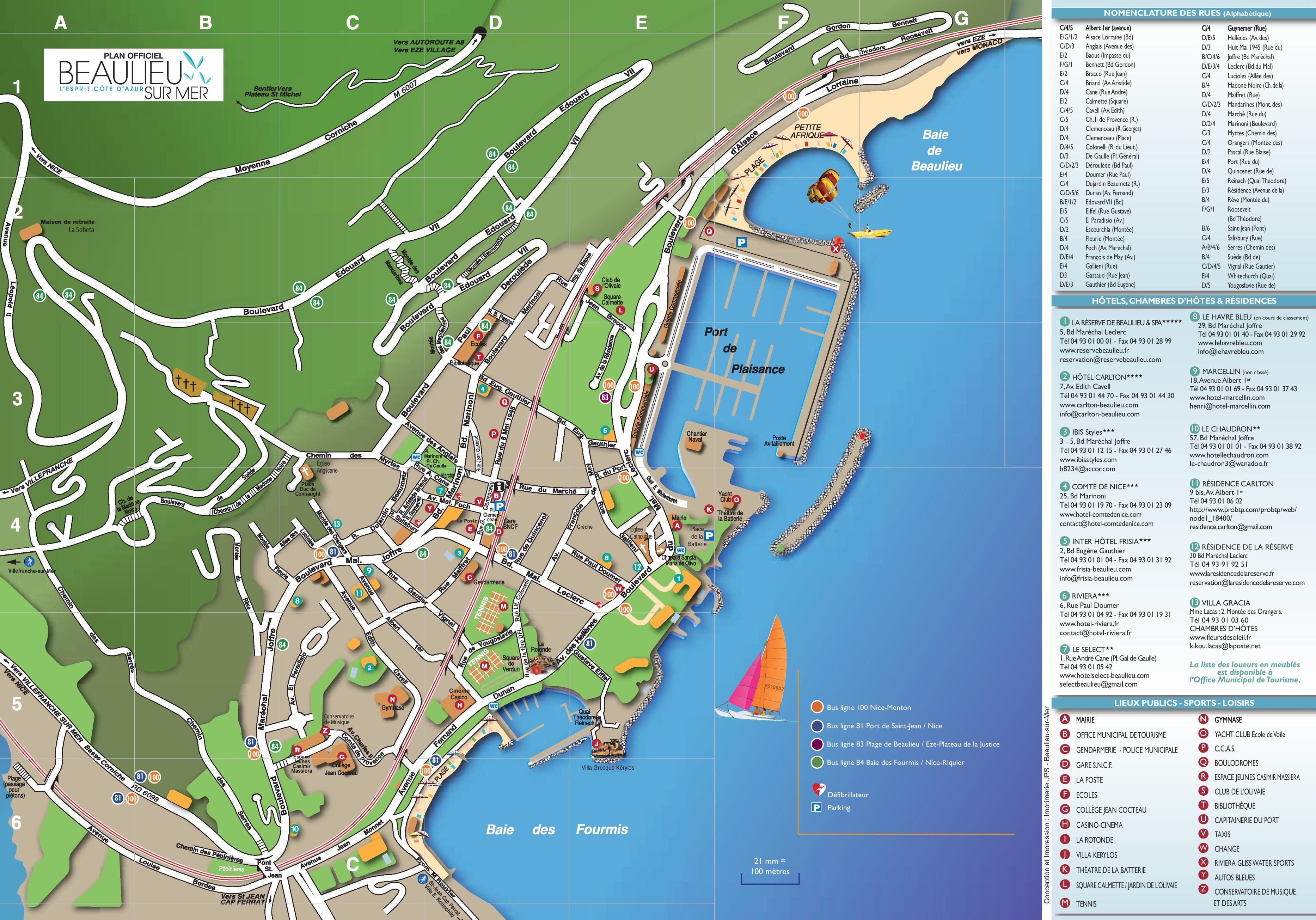 BeaulieusurMer tourist map