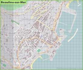Large detailed map of Beaulieu-sur-Mer
