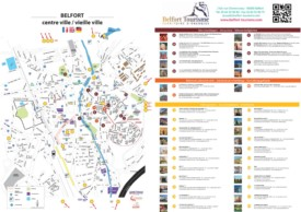 Belfort hotels and sightseeings map