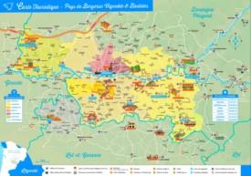 Bergerac area tourist map