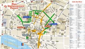 Bergerac tourist map