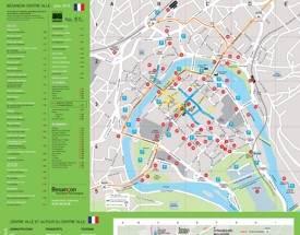 Besançon sightseeing map