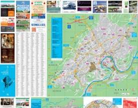 Besançon tourist attractions map