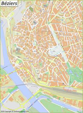 Béziers City Center Map