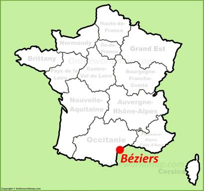 Béziers Location Map