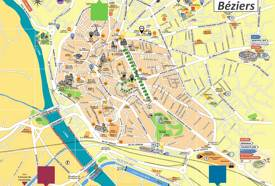 Béziers Tourist Map