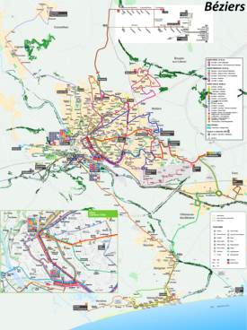 Béziers Transport Map