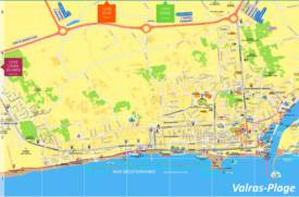 Valras-Plage Tourist Map