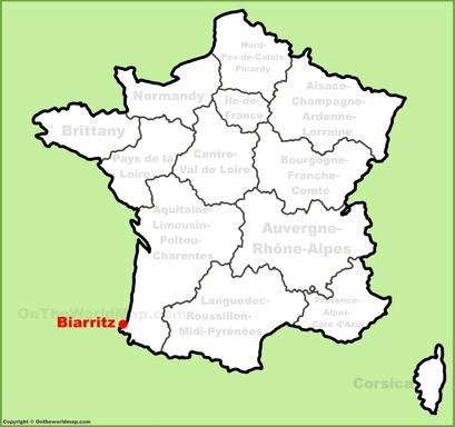 Biarritz Location Map