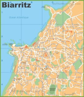 Biarritz streets map