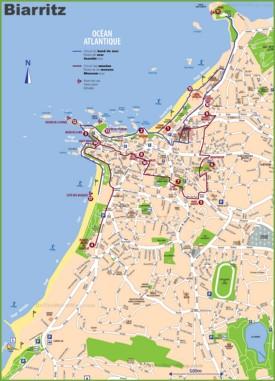 Biarritz tourist map