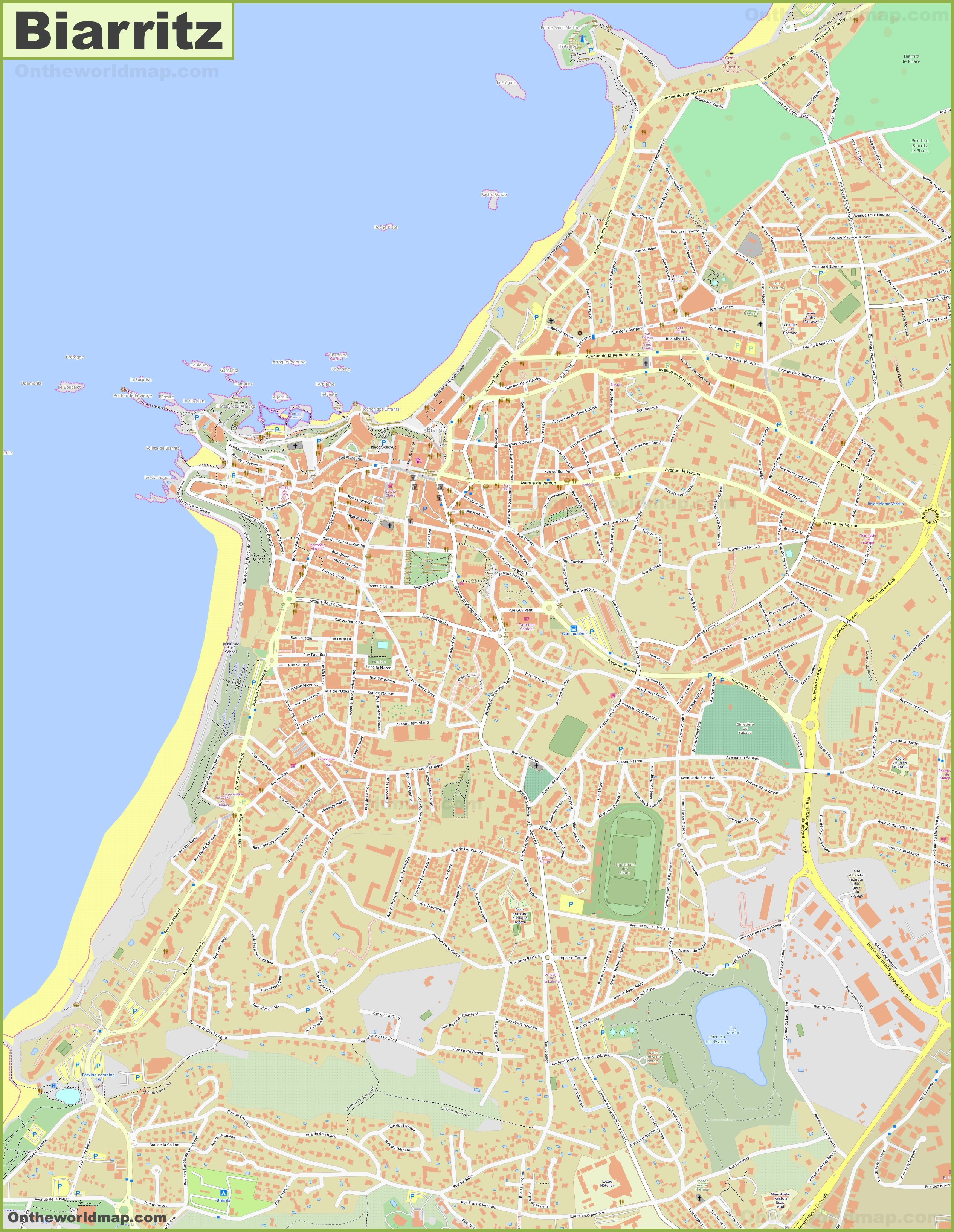 Biarritz Maps | France | Maps of Biarritz
