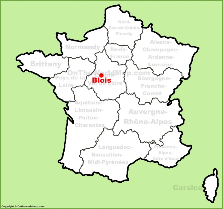 Blois location on the France map