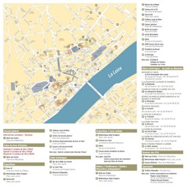 Blois tourist attractions map