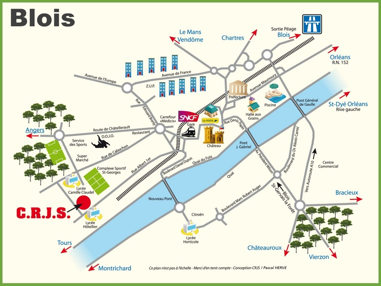 Blois travel map