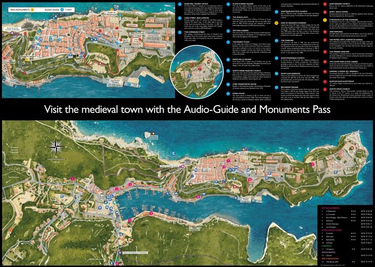 Bonifacio tourist map
