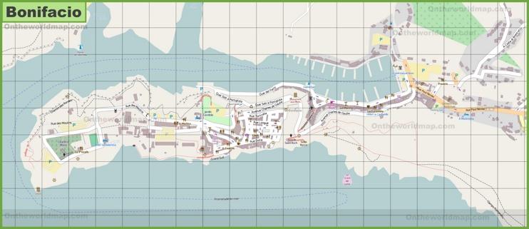 Detailed map of Bonifacio