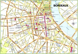 Bordeaux city center map