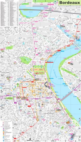 Bordeaux sightseeing map