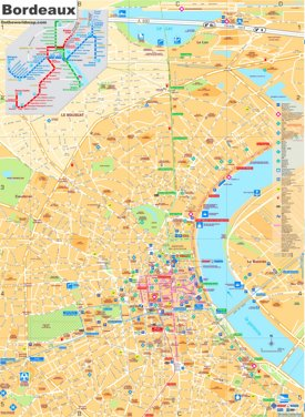 Bordeaux tourist map