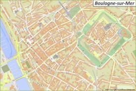 Boulogne-sur-Mer City Center Map